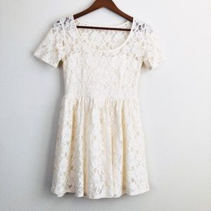 Altar'd State cream lace dress - SMALL